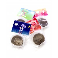 St. Valentine's Day 50 шт. шоколад с предсказанием с открыткой