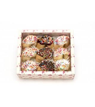 Набор из 9 шт. печенья с предсказанием в глазури