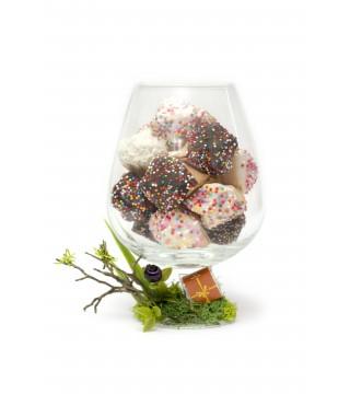 Бокал - 10 шт печенья с предсказаниями в глазури