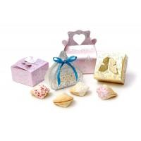 Бонбоньерка и печенье с предсказанием в глазури