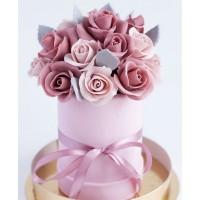 Шоколадный стаканчик с цветами №1
