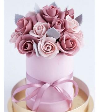 Шоколадная цветочная коробочка №1
