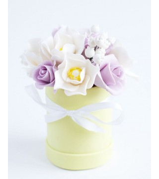 Шоколадная цветочная коробочка №3
