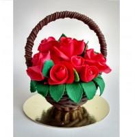 Шоколадная корзина с цветами № 17