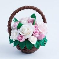 Шоколадная корзина с цветами № 16
