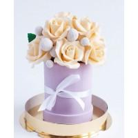 Шоколадный стаканчик с цветами №4