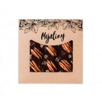 Шоколад темный с орехом пекан и папайя