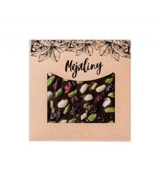 Шоколад темный с фисташкой, арахисом и клюквой