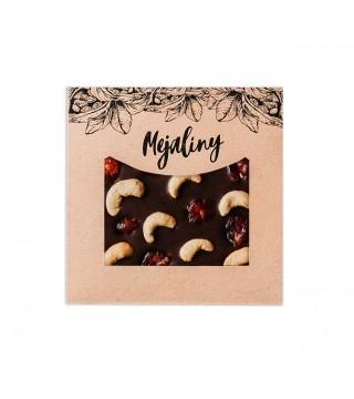 Шоколад молочный с орехом кешью и вишней