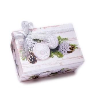 Новогодняя коробка с печеньем - СРЕДНЯЯ