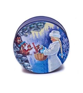 "Новогодняя жестяная баночка ""Снегурочка"" №1"