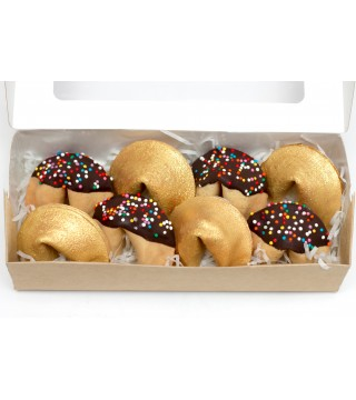 Набор из 8 -х шт. печенья с предсказанием в глазури №1