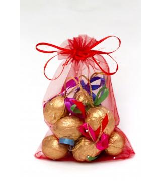 10 орешков с предсказаниями в новогоднем мешочке