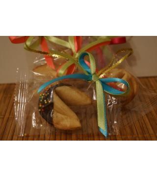 Печенье с предсказанием в глазури с БАНТИКОМ
